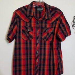 Rebel & Soul Cotton Western Short Sleeve Sz L